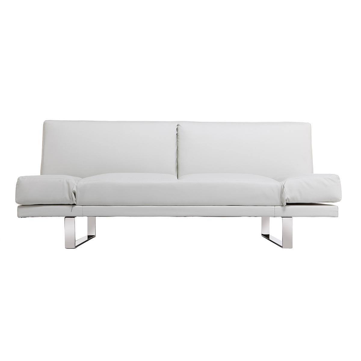 Divano convertibile design PU bianco ATLANTA