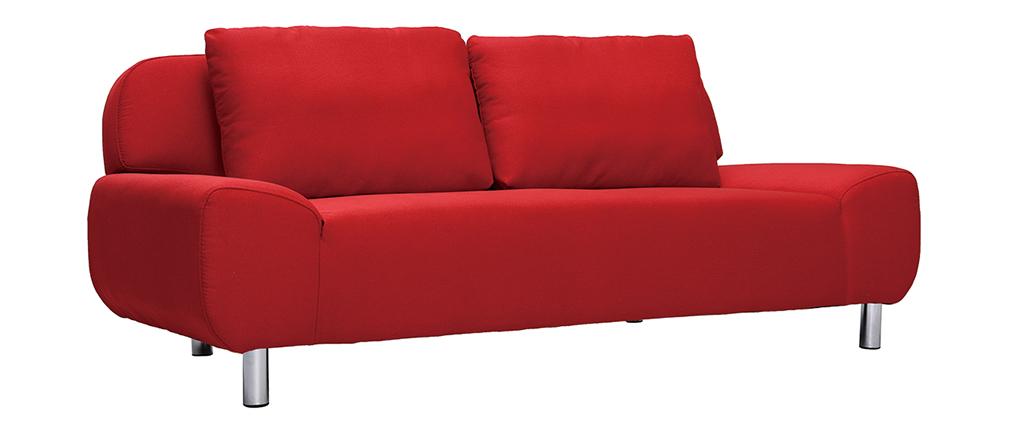 Divano convertibile design rosso TULSA