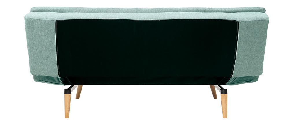 Divano convertibile design scandinavo 3 posti blu laguna SENSO