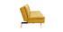 Divano convertibile design scandinavo 3 posti giallo SENSO