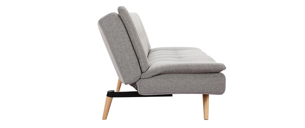 Divano convertibile design scandinavo 3 posti grigio chiaro SENSO