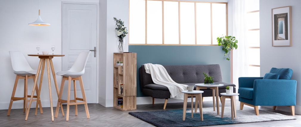 Divano convertibile design scandinavo 3 posti grigio scuro SENSO