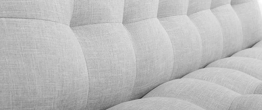 Divano convertibile design scandinavo grigio e quercia YUMI