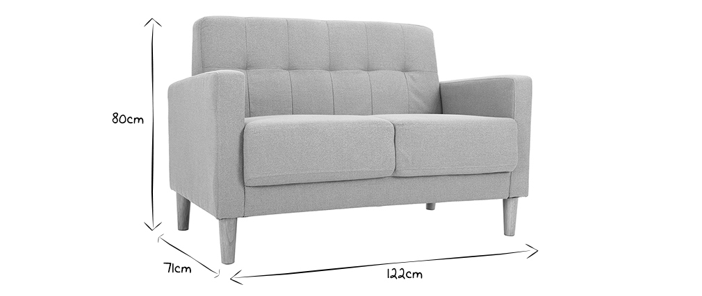 Divano design 2 posti grigio MOON