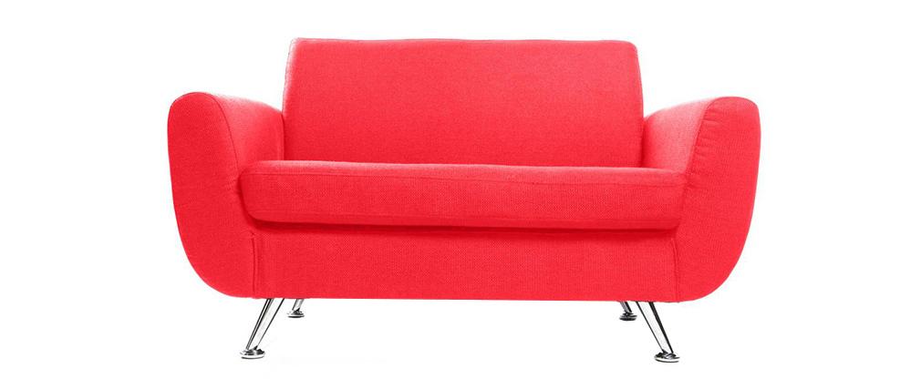 Divano design 2 posti rosso PURE