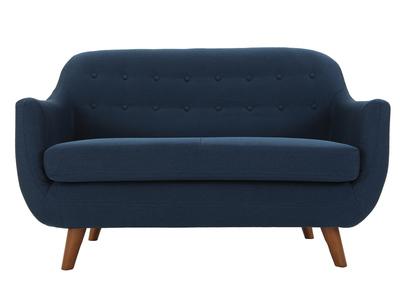 Divano design 2 posti sfoderabile blu YNOK