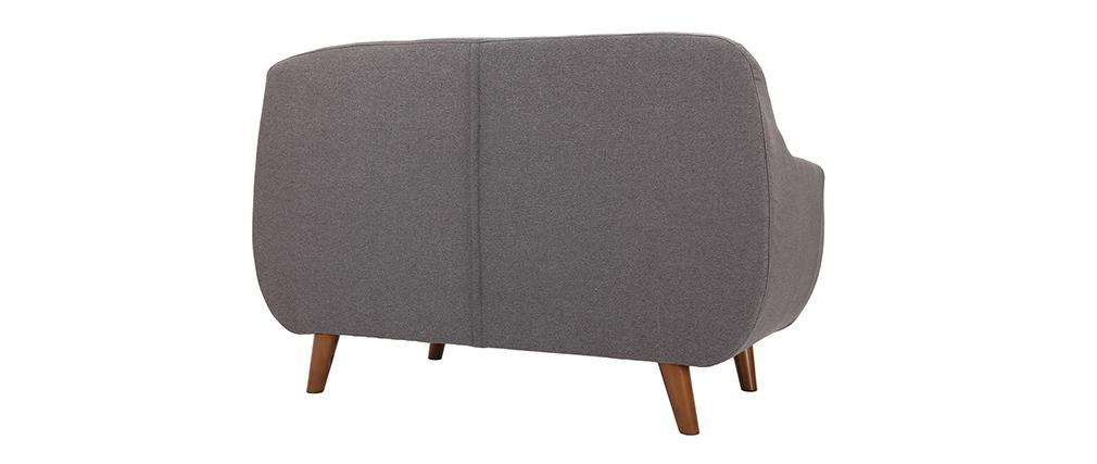 Divano design 2 posti sfoderabile grigio antracite YNOK