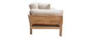 Divano design 3 posti bianco crema piedi in legno KYO