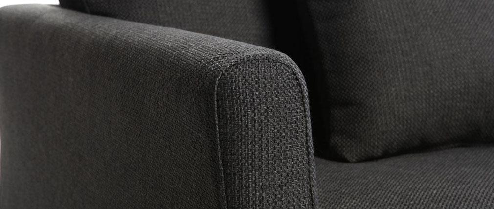 Divano design 3 posti design grigio antracite VOLUPT