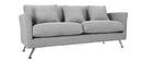Divano design 3 posti design grigio chiaro VOLUPT