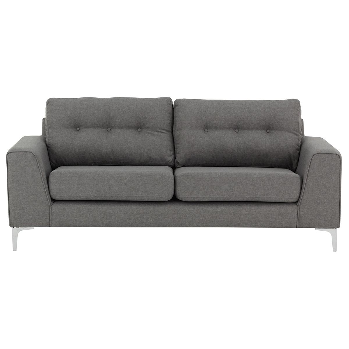 Divano design 3 posti grigio chiaro EBONY