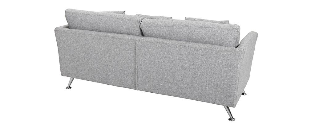 Divano design 3 posti grigio chiaro VOLUPT