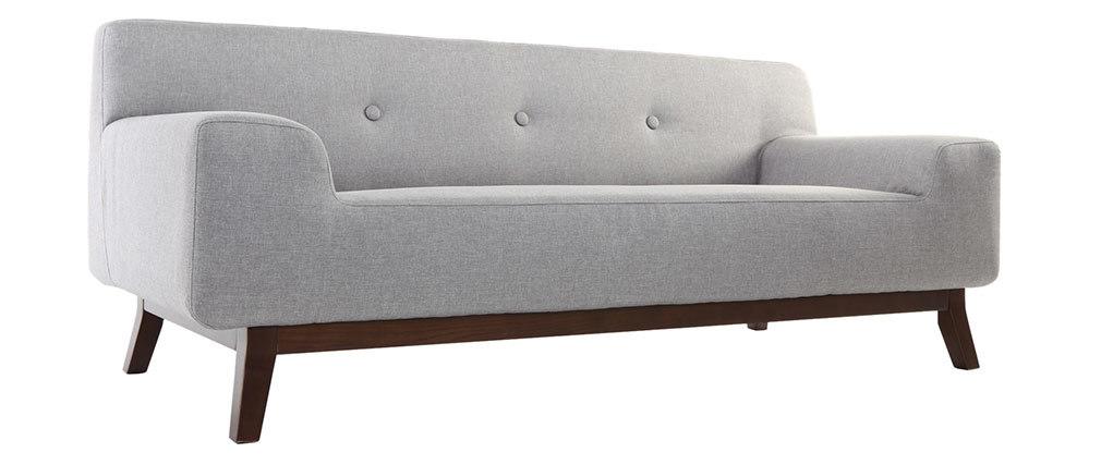Divano design 3 posti grigio VILA