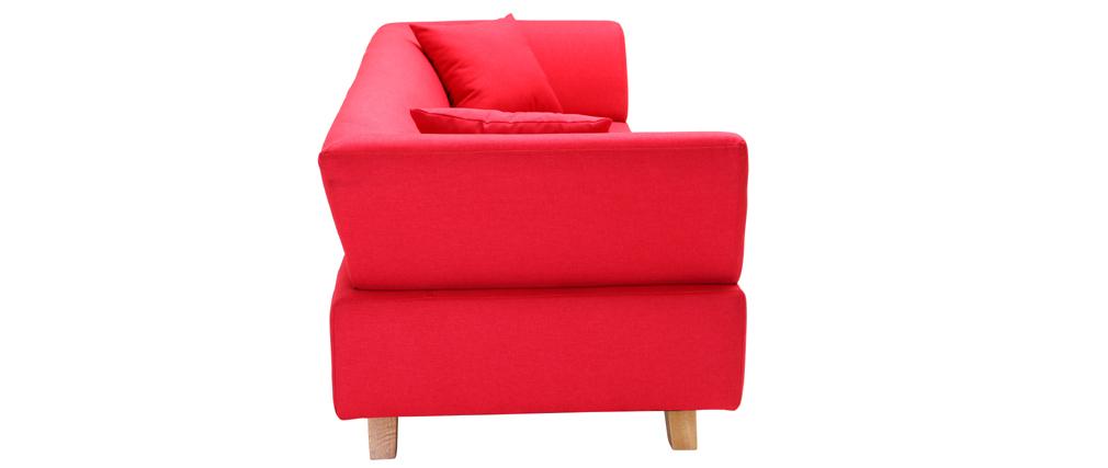 Divano design 3 posti rosso ARTIC
