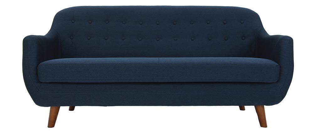 Divano design 3 posti sfoderabile blu YNOK