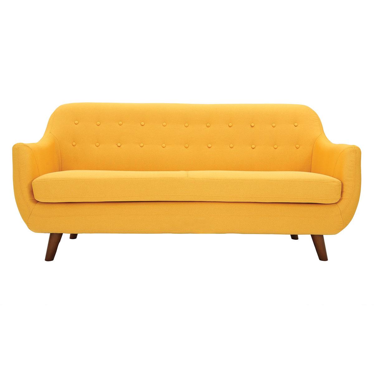 Divano design 3 posti sfoderabile giallo YNOK