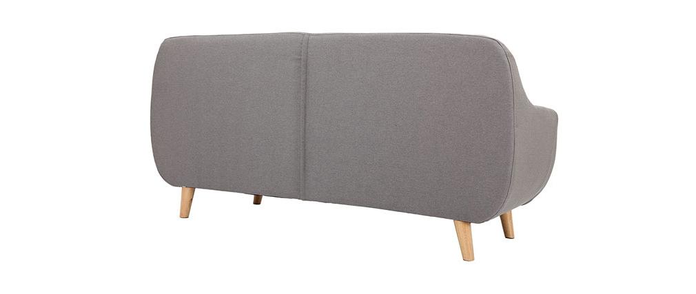 Divano design 3 posti sfoderabile grigio YNOK