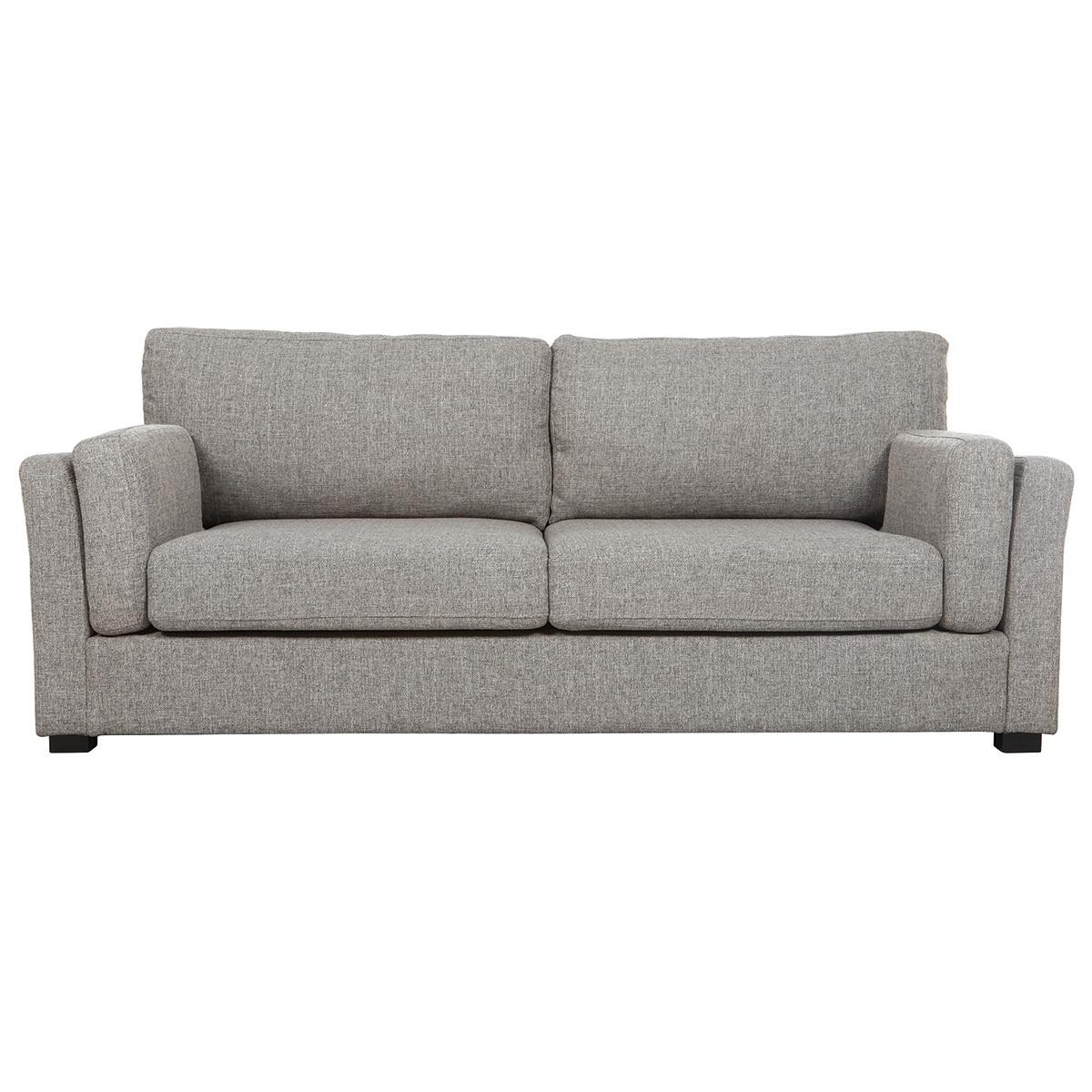 Divano design 3 posti tessuto grigio chiaro MILORD