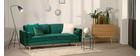 Divano design a 3-4 posti in velluto Midnight verde IMPERIAL