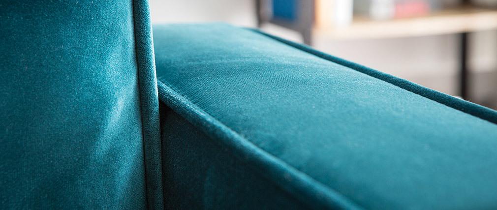 Divano design a 3 posti in velluto verde smeraldo BROOKLYN