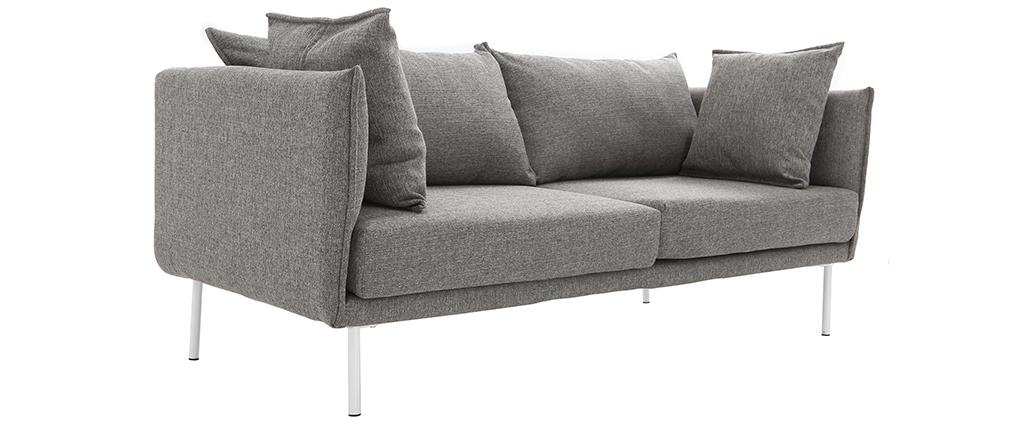 Divano design contemporaneo 3 posti grigio chiaro MATHIS