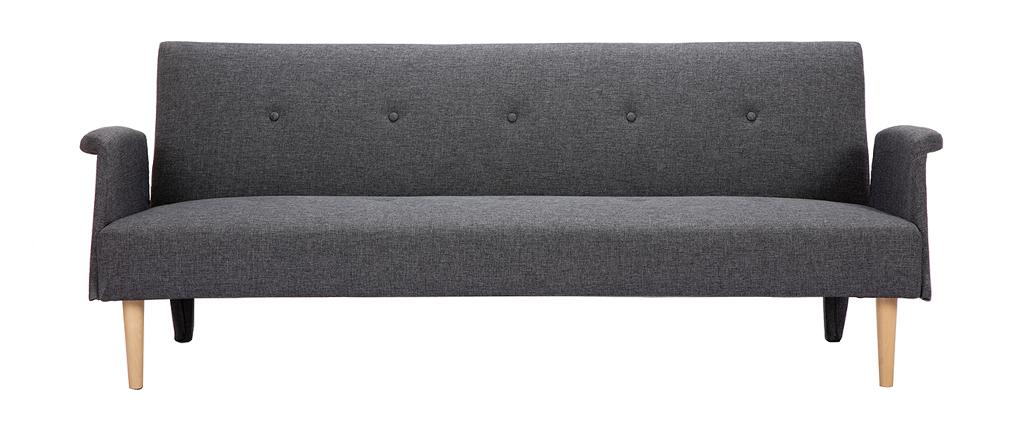 Divano design convertibile grigio scuro OSCAR