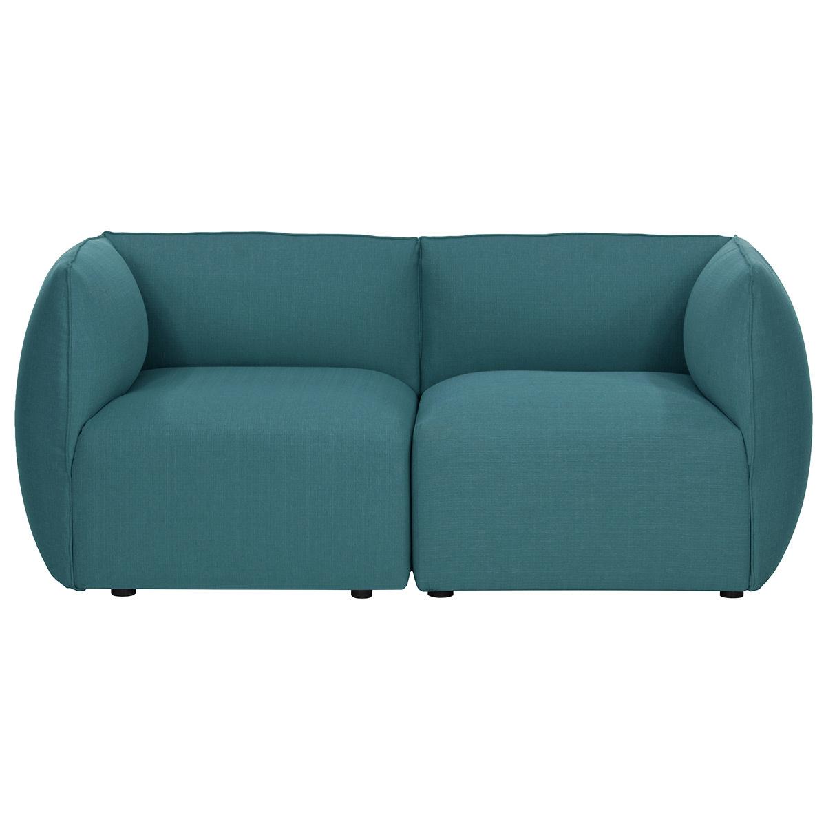 Divano design modulabile Blu anatra 2 posti MODULO