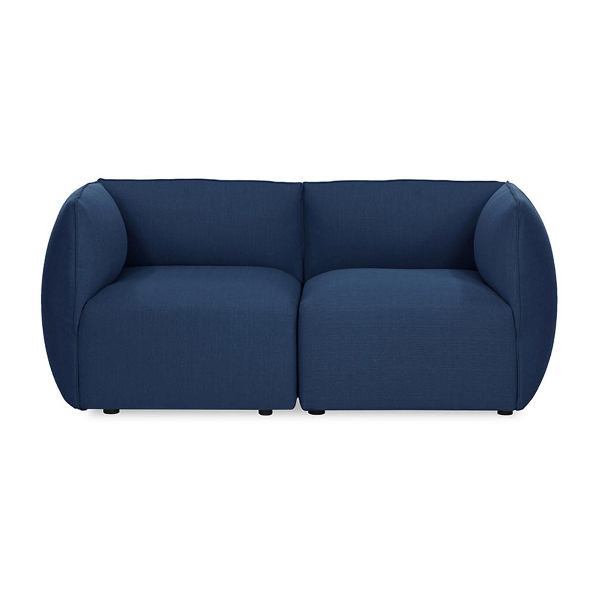 Divano design modulabile Blu scuro 2 posti MODULO