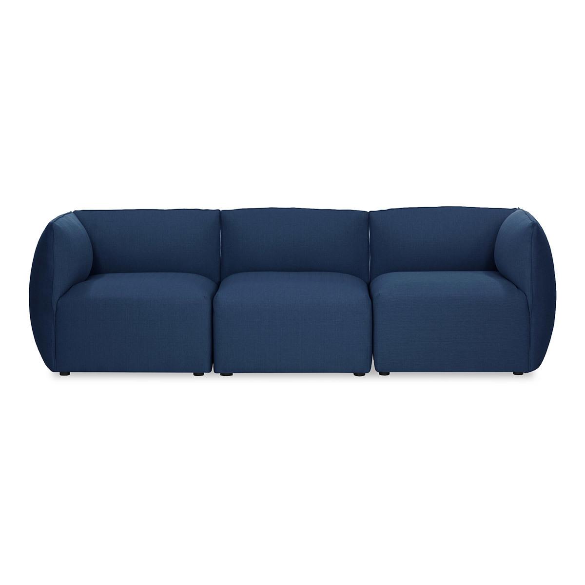 Divano design modulabile Blu scuro 3 posti MODULO