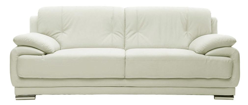 Divano in pelle design bianco 3 posti TAMARA