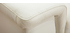 Divano pelle bianca 3 posti con poggiatesta regolabile ROMEO - pelle di bufalo