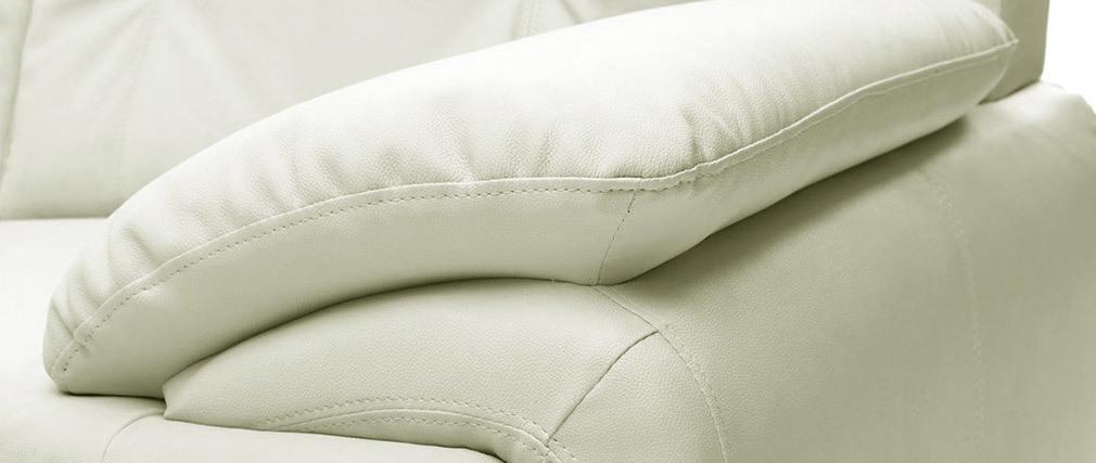Divano pelle design bianco 2 posti TAMARA