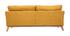 Divano sfoderabile in stile scandinavo 3 posti effetto velluto color senape OSLO