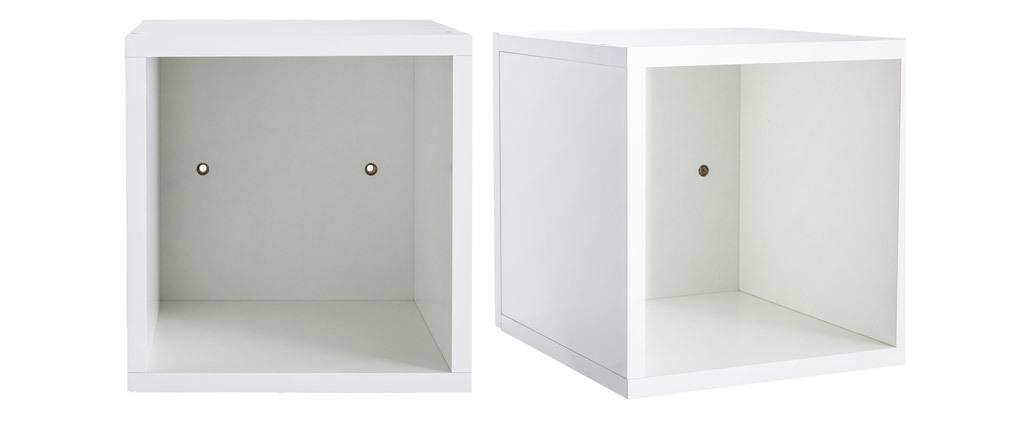 Elementi murali quadrati laccati lucidi bianco (lotto di 2) ETERNEL