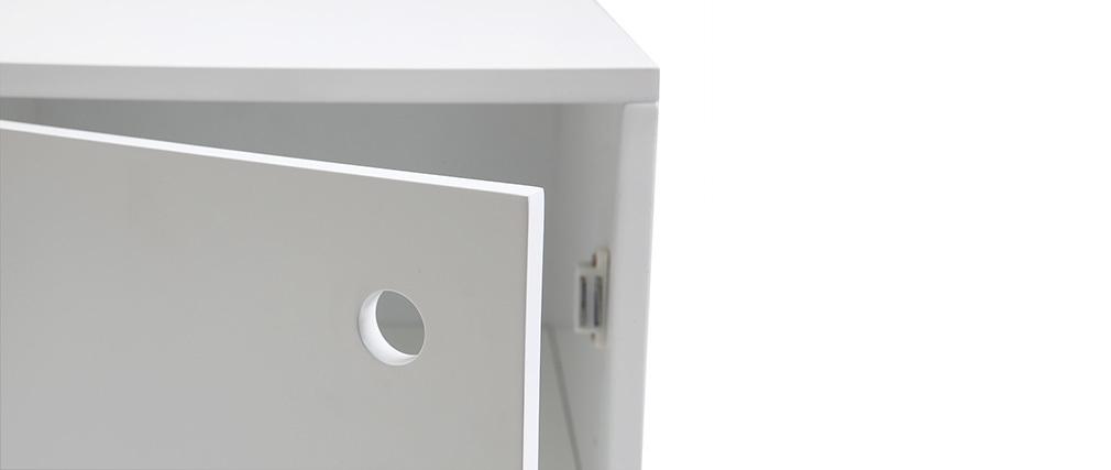 Elemento contenitore laccato bianco opaco STOKA