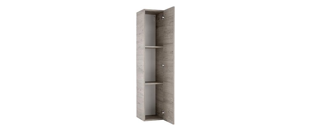 Elemento da parete design legno grigio verticale COLORED V2