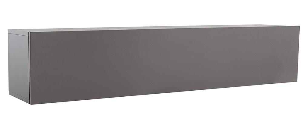 Elemento da parete TV grigio antracite opaco orizzontale COLORED V2