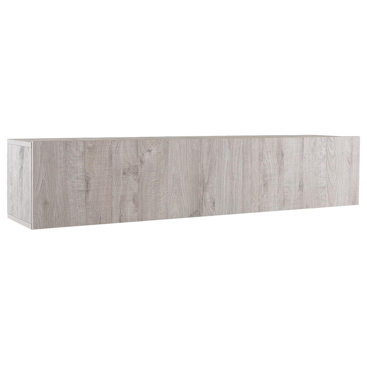 Elemento da parete TV legno grigio orizzontale COLORED V2
