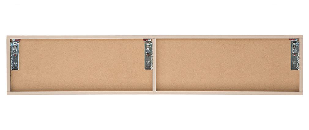 Elemento da parete TV legno miele orizzontale COLORED V2