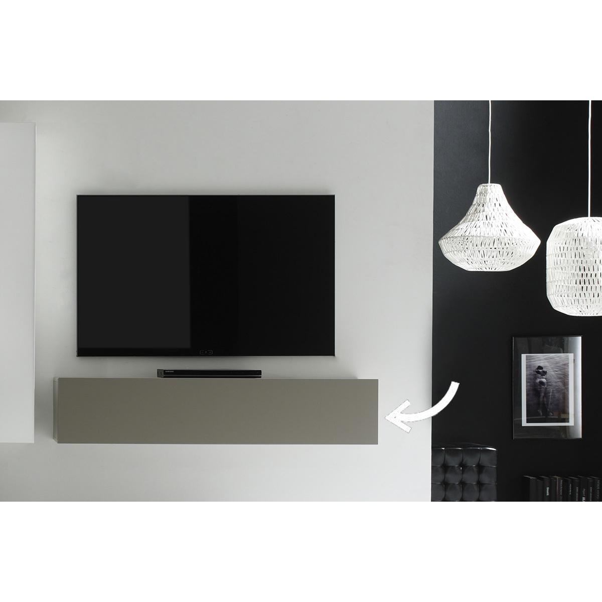 Elemento da parete TV talpa opaco orizzontale COLORED V2