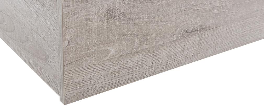 Elemento murale COLORED quadrato legno grigio
