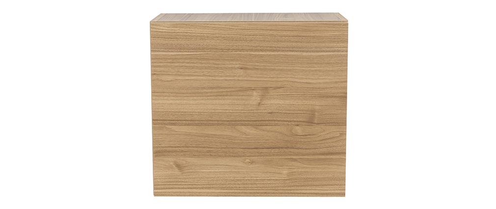 Elemento murale quadrato finitura legno chiaro ETERNEL