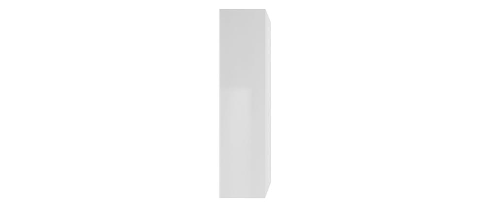 Elemento murale TV verticale laccato bianco ETERNEL