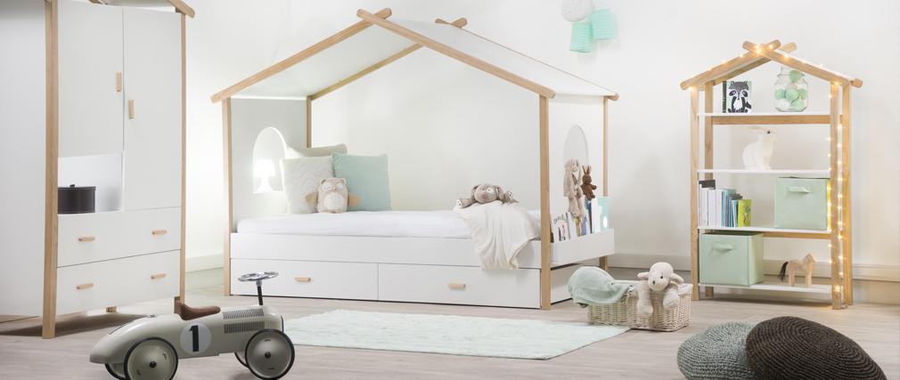 Gruppo di 2 cassetti del letto per bambino design BIRDY