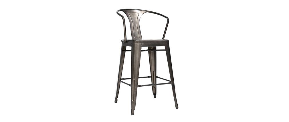 Gruppo di 2 sedie alte design stile industriale metallo for Sedie industrial design