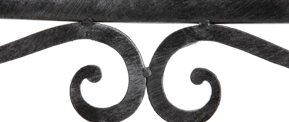 Gruppo di 2 sedie barocche in metallo colore nero VENEZIA