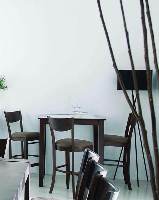 Gruppo di  2 sedie da bar CRESENT cucina/sala – Wenge