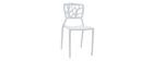 Gruppo di 2 sedie design bianche KATIA