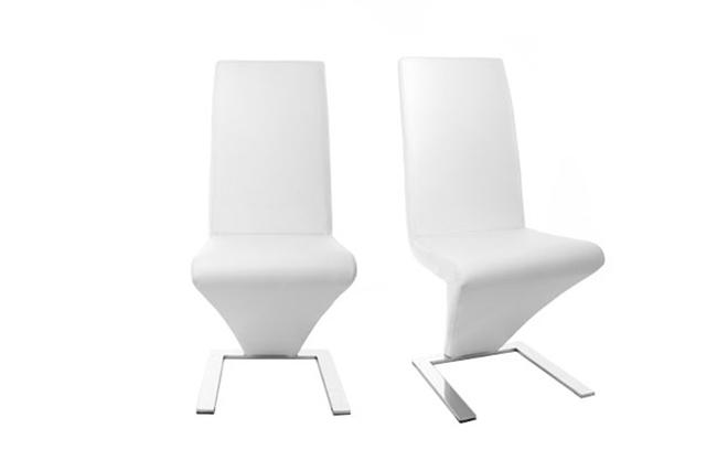 Sedie Bianche Design : Gruppo di 2 sedie design bianche new angie miliboo
