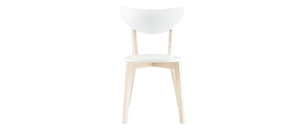 Gruppo di 2 sedie design color bianco LEENA
